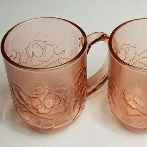 Arcoroc Rose Pink Roseline France Tea Coffee Cup 2